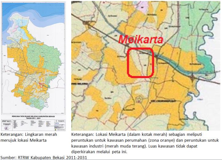 RTRW Kab Bekasi terkait Meikarta